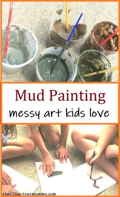 Discover how to turn mud into colorful paint!  Kids of all ages will love this messy art activity that's perfect for summer.  #kidsart #artforkids #sensoryplay