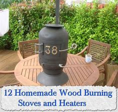 12 Homemade Wood Burning Stoves and Heaters