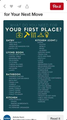 New Apartment Checklist! | Moving out on your own and into your ...