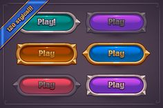 Fantasy Game Button Maker by Vectricity Designs on Game Icon Design, Game Logo Design, Ui Buttons, Button Maker, Maker Game, Game Gui, I Love Games, Game Interface, Ui Design Inspiration