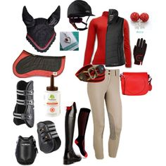 Red Schooling Outfit by ivymyers on Polyvore