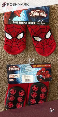 12-24 months Spider-Man slipper socks. NWT in package Spider-Man slipper socks. Bundle and save on kids stuff! Accessories Socks & Tights