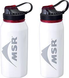 MSR Alpine Bottles, bright white powder coat, 1L and .75L