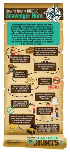 Ridlle Scavenger Hunt Rules Infographic