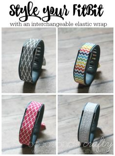 No-Sew Fitbit Charge Fitness Tracker Cover from Occasionally Crafty