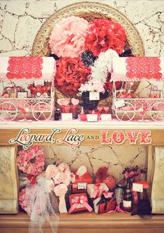 How cool would this be for a girl's night passions or pure romance party theme around valentine's day