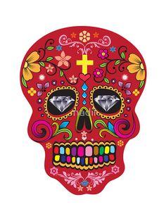 Day of the dead  sugar skulls  by nadil #sugarskull