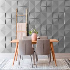 Ref Square - Wall Forms panels are made of white bone-colored plastic with a wall-like texture. Creative Wall Decor, Cute Wall Decor, Unique Wall Decor, Creative Walls, Textured Wall Panels, Decorative Wall Panels, 3d Wall Panels, Living Room Designs, Living Room Decor