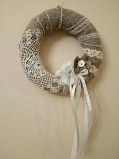 My hobby ,nice wreath.    shabby chic