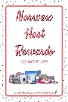 The Norwex Host Rewards for September 2019 have been released, talk about a great time to host a Norwex party!  #Norwex, Host Rewards, Norwex Party, September Host Rewards, Norwex September Host Rewards,