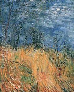 Edge of a Wheatfield with Poppies Vincent van Gogh art for sale at Toperfect gallery. Buy the Edge of a Wheatfield with Poppies Vincent van Gogh oil painting in Factory Price. Art Van, Van Gogh Art, Claude Monet, Desenhos Van Gogh, Van Gogh Pinturas, Vincent Willem Van Gogh, Van Gogh Paintings, Dutch Painters, Post Impressionism