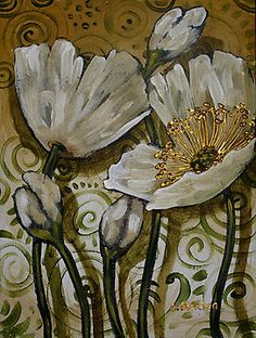 White Poppy Fiasco by Cherie Roe Dirksen--- Prints starting at $12.60 #poppy…