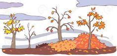 Resultado de imagen para paisaje de otoño dibujo