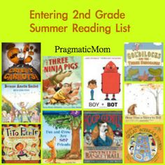 Going into 2nd Grade Summer Reading List for Kids :: PragmaticMom 2nd Grade Reading, Kids Reading, Reading Activities, Reading Skills, Summer Reading Lists, First Grade, Second Grade, Grade 2, Lectures