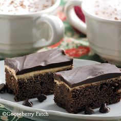 Gooseberry Patch Recipes: Coffee Cream Brownies