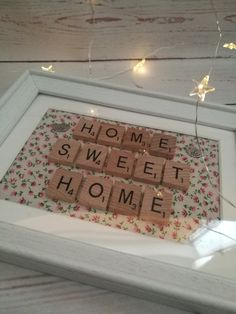 Home sweet home picture frame  scrabble by CathsLittleTreasures