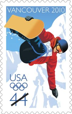 XXI Olympic Winter Games, which were held February in Vancouver, British Columbia, Canada. Winter Olympic Games, Winter Games, Winter Olympics, Vancouver, Postage Stamp Design, Ski Posters, Sports Posters, Going Postal, Vintage Stamps