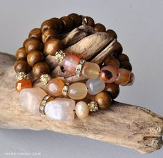 Learn to make these popular mala prayer bead style bracelets. Anthro Hack