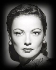 Gene Tierney... I don't know how often I've tried to get my hair like this