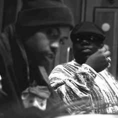 Hip Hop legends Nas and Biggie smalls
