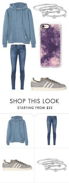 """""""Feeling kinda sick"""" by sarahfohlen ❤ liked on Polyvore featuring MANGO, AG Adriano Goldschmied, adidas, London Road, Casetify, Winter and 2k17"""