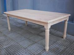 Mesa  luis xv en madera de guindo 2.20 x 1.10 m. Aprigliano Muebles