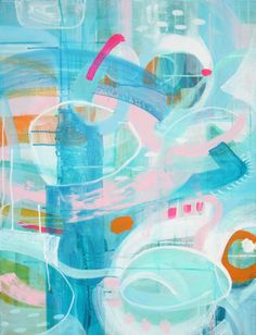 Buy Neptune, a Acrylic on Canvas by Marjolein Verstappen from Netherlands. It portrays: Abstract, relevant to: pastel, pink, positive, blue, transparent, turquoise, neptune, layerd, aqua, light, neon, orange Neptune is a light and positive piece. It reminds me of a strange underwater world, with a lot to see. I used a lot of layers and detail so every time you look at this painting you see something new.