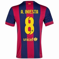 ff8687e631b Andres Iniesta  8 Barcelona 15 16 Home Jersey Barcelona Jerseys