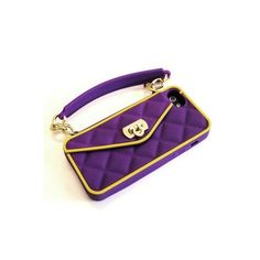 pursecase パースケース iphone ケース ミニ バッグ型iphone TEAM SPIRIT PURPLE & GOLD 5 5S 5C シリコン パープル カバー ipho アイフ アイホ - セレクトショップ L Etoile beaute - Yahoo!ショッピング (beautejapan)