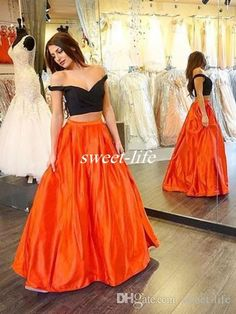 Black And Orange Prom Dresses,Two Pieces Prom Dresses,Floor-Length Prom Dresses,Sweetheart Evening Dresses,Backless Party Formal Cocktail Gowns Orange Prom Dresses, Prom Dresses Two Piece, Princess Prom Dresses, Prom Dresses 2016, Two Piece Dress, Cheap Prom Dresses, Dresses For Teens, The Dress, Sexy Dresses