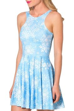 084b380255a142 New Women blue Color Snow Dress Women Skater Dress Sun Dress Drop shipping