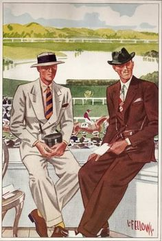 Spring 1934. Looking like big winners at the track.