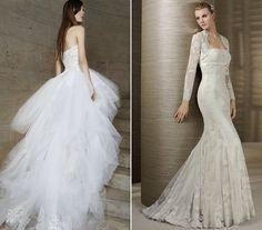 Oroszlán  Szereted a feltűnő, nem átlagos darabokat, ezért az esküvői ruhánál is érdemes ilyesmiben gondolkodni. Egy különleges tüllcsoda például remekül illik hozzád.    Szűz  Visszafogott és nőies vagy, ezért egy elegáns, a test vonalát követő, sellőfazonú ruha kis kabátkával tökéletes választás.