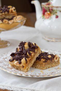 Chocolate, Hazelnut and Orange Cookie Bars from acommunaltable.com