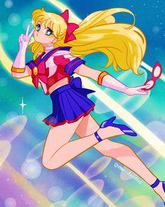 Sailor V fan art Sailor Moon Fan Art, Sailor Moon Character, Sailor Moon Usagi, Sailor Moon Crystal, Sailor Venus, Sailor Mars, Fluttershy, Sailor Moon Personajes, Moon Drawing