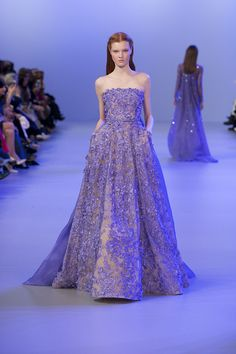 We are loving this fairy tale blue from #ELIESAAB Haute Couture Spring-Summer 2014