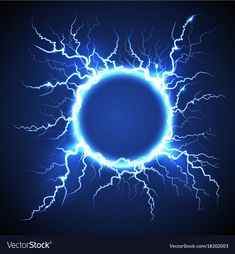 Circle lightning realistic blue background vector image on VectorStock Light Background Images, Art Background, Anime Scenery Wallpaper, Cool Wallpaper, Lightning Images, Magia Elemental, Flame Art, Blue Backgrounds, Fantasy Art