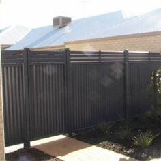 black colorbond fences , Colorbond Fences In Landscaping And Outdoor Building Category