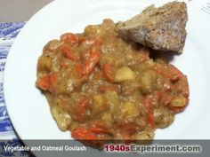 35 pence stew with baked potato stew lentils and vintage recipes vegetable and oatmeal goulash forumfinder Choice Image
