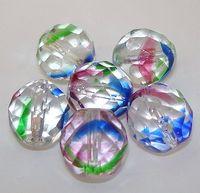 4 geschliffene Glasperlen | Rheinkiesel | 12mm *pe4706 - JAUL.biz Perlen und Glas