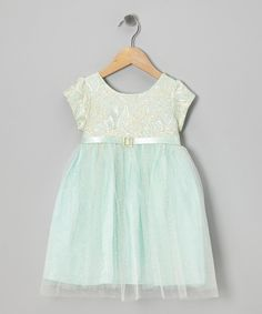 Take a look at this Mint Empressa Dress - Infant on zulily today!