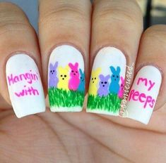 I am unfolding before you best Easter nail art designs, ideas, trends & stickers of Have a look at the collection. Easter Nail Designs, Easter Nail Art, Cute Nail Designs, Pedicure Designs, Spring Nail Art, Spring Nails, Cute Nail Art, Cute Nails, Pretty Nails