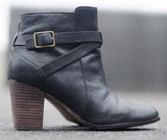 eab7722afff4 Cole Haan Grand OS Black Pebbled Leather Harness Buckle Zip Ankle Boot  Women s 8  ColeHaan