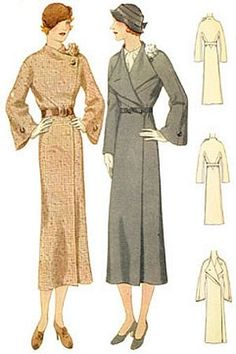 1930 Coat With Flower Accent: