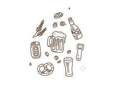 Beer doodles