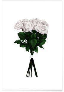 White Bouquet - Peytil - Premium Poster