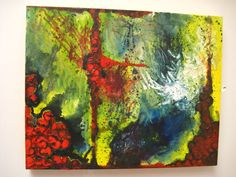 "ORIGINAL oil abstract painting on canvas ""Landscape"" size 16x20 signed by artist. on Etsy, $250.00"