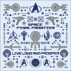 Star Trek parody pillow sampler Cross stitch PDF di cloudsfactory