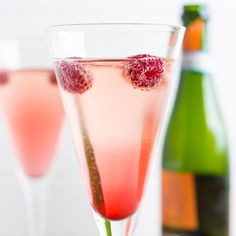 Prosecco Kir Royale Cocktail