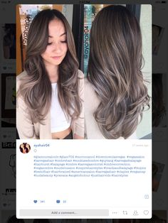 ash balayage ombre Hair Color And Cut, Haircut And Color, Love Hair, Gorgeous Hair, Ash Balayage, Hair Styles 2016, Hair Highlights, Hair Dos, Ombre Hair